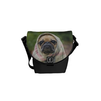 Pug Messenger Bag