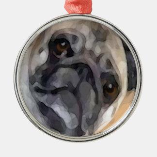Pug Metal Ornament