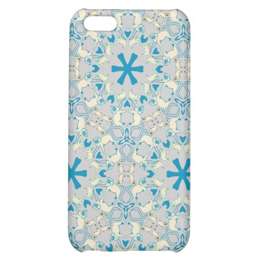 Pug Modern Pattern / Mopsmuster iPhone 5C Cover