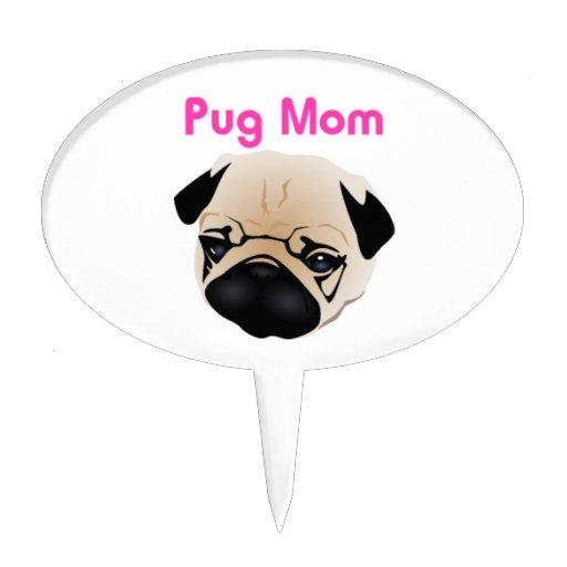Pug Mom 1 Cake Toppers