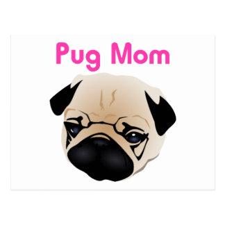 Pug Mom 1 Postcard