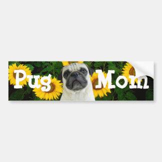 Pug mom bumpers sticker car bumper sticker