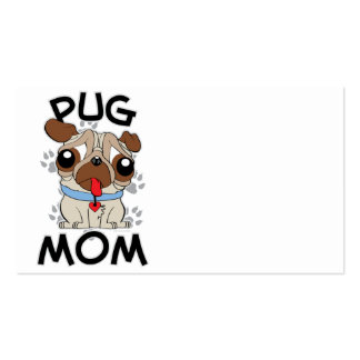 Pug Mom Double-Sided Standard Business Cards (Pack Of 100)