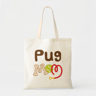Pug Mom (Dog Breed) Budget Tote Bag