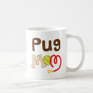 Pug Mom (Dog Breed) Classic White Coffee Mug