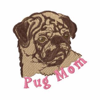 Pug Mom Emrboidered Tees and Sweats - Pink Hoodie