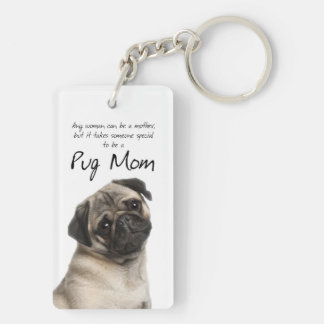 Pug Mom Key Ring