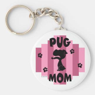Pug Mom Keychain