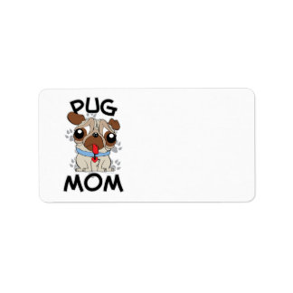 Pug Mom Label