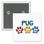 PUG Mom Paw Print 1 Pin