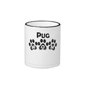 Pug Mom Ringer Coffee Mug