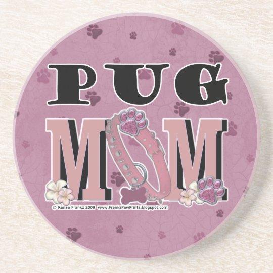 Pug MOM Sandstone Coaster