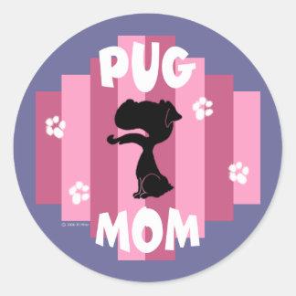 Pug Mom Stickers