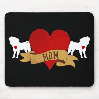 Pug Mom [Tattoo style] Mousepad