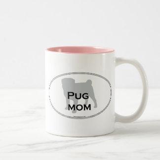Pug Mom Two-Tone Coffee Mug
