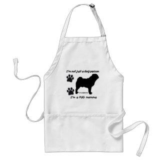 pug momma adult apron