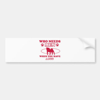 pug mommy design bumper sticker
