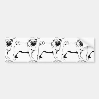 Pug Mops Car Bumper Sticker