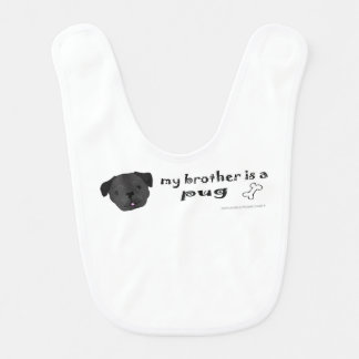 pug - more baby bib