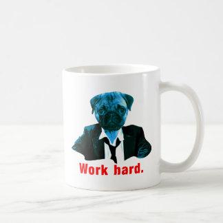 Pug more worker coffee mug