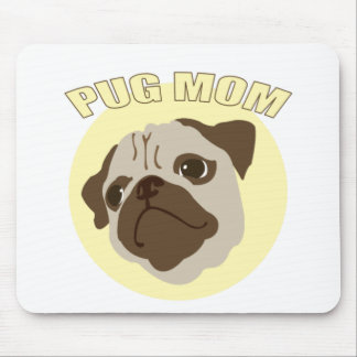Pug Mother Mouse Pad