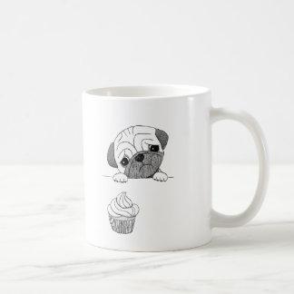 Pug Mug Cute Funny Pug Ink Drawing Dog Lover Mug