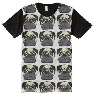 Pug Mugs All-Over Print T-shirt