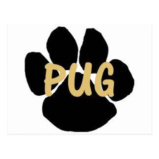 pug name paw.png postcard