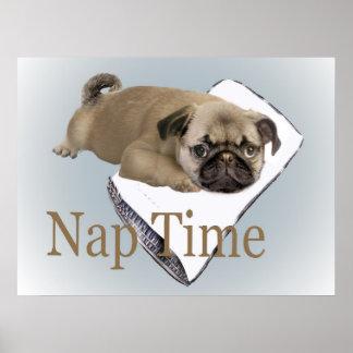 pug nap time Poster