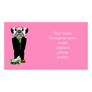 Pug Nope Double-Sided Standard Business Cards (Pack Of 100)