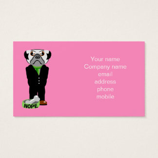 Pug Nope Business Card