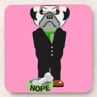 Pug Nope Coasters