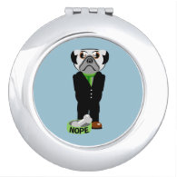 Pug Nope Compact Mirror