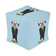 Pug Nope Cube Pouf