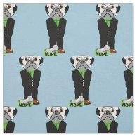 Pug Nope Fabric