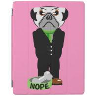 Pug Nope iPad Cover