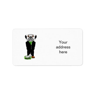 Pug Nope Address Label