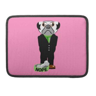 Pug Nope MacBook Pro Sleeves