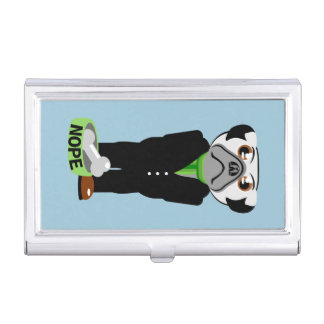 Pug Nope Business Card Case