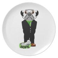Pug Nope Plate