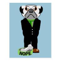 Pug Nope Postcard