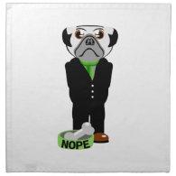 Pug Nope Printed Napkin