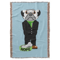 Pug Nope Throw