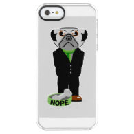 Pug Nope Uncommon Clearly™ Deflector iPhone 5 Case