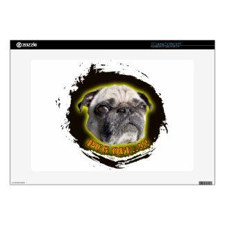 "pug off 15"" laptop decal"