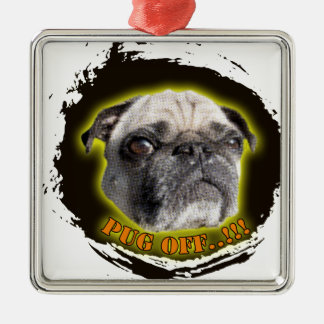 pug off metal ornament