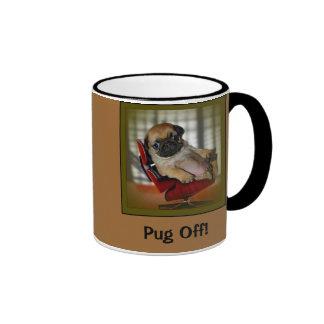 Pug Off! Ringer Mug