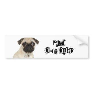 Pug on Board bumpersticker