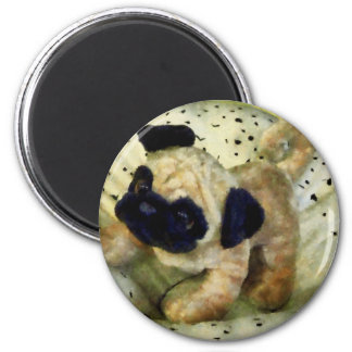 Pug on Pillow 2 Inch Round Magnet
