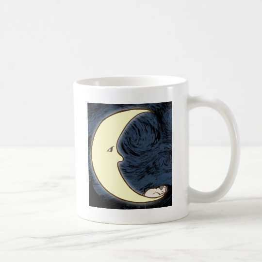 Pug on the Moon Coffee Mug